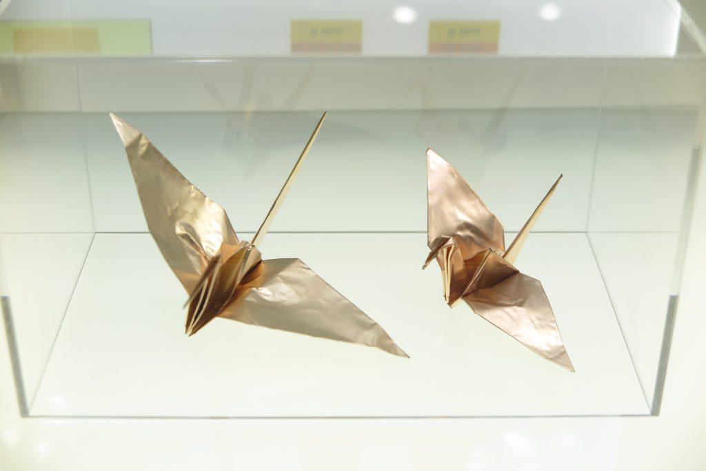 HA & HA-V2箔で作った折り鶴
