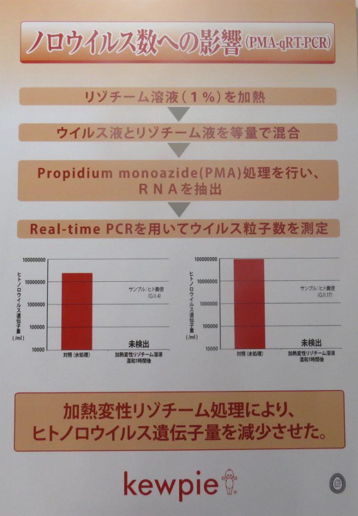 ノロウイルス数への影響