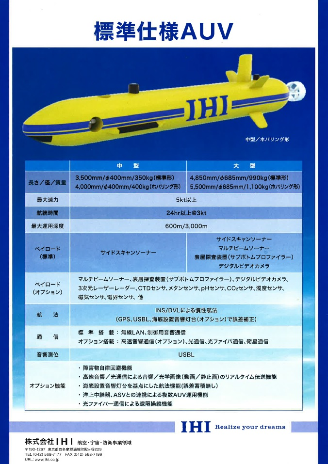 標準仕様AUV