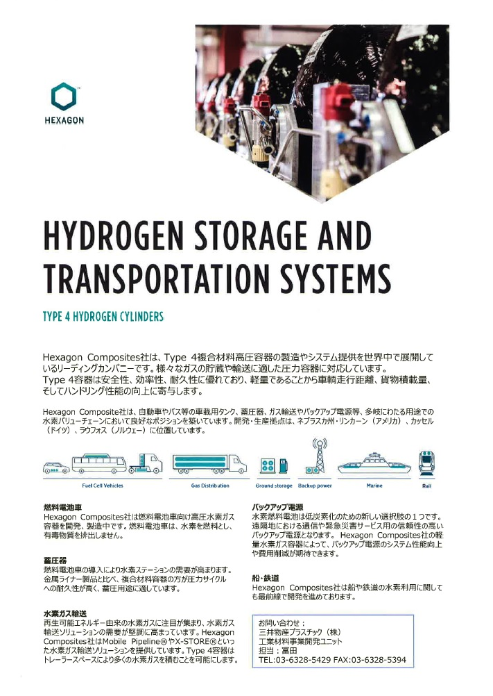 HYDROGEN STORAGE AND TRANSPORTATION SYSTEMS
