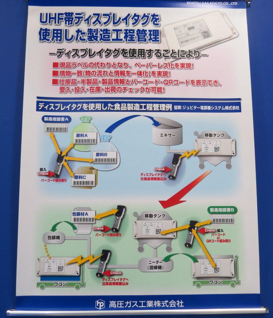 UHF帯ディスプレイタグを使用した製造工程管理 ーディスプレイタグを使用することによりー