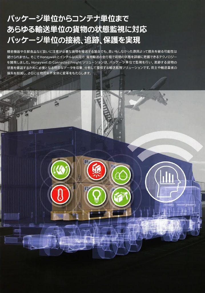 Eyes on the inside 輸送貨物をネットワークに接続して追跡、監視し、保護することができます。