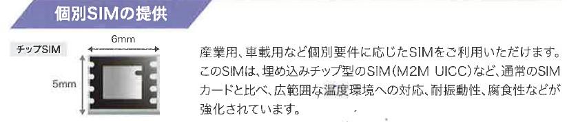 個別SIMの提供
