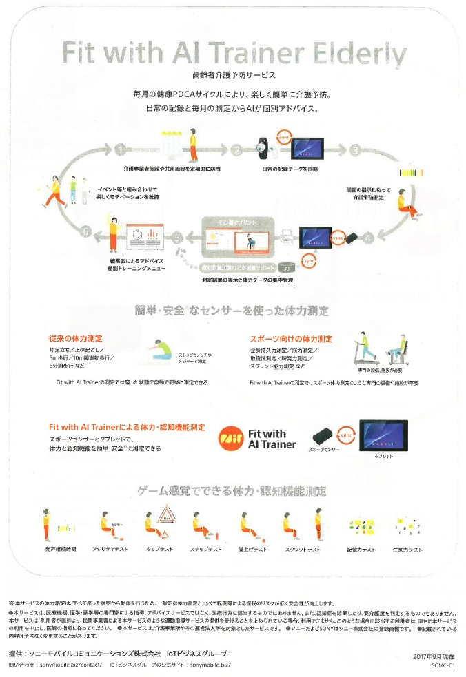 Fit with AI Trainer EIderly 高齢者介護予防サービス