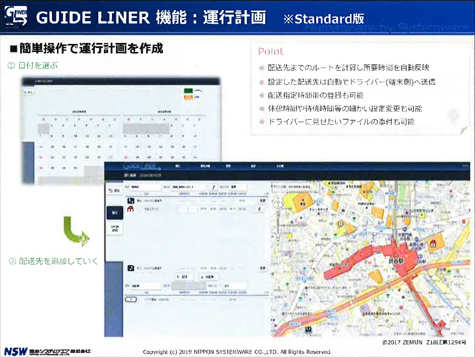 GUIDE LINER 機能:業務状況報告 4