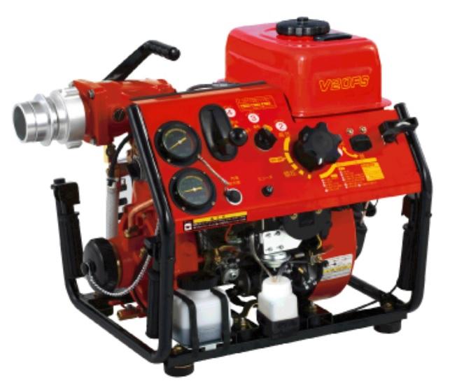 『V20FS ・ V20F』 軽量・コンパクト・スピーディー。空冷C-1級に分離給油システムを追加。 メンテナンスの省力化を実現。